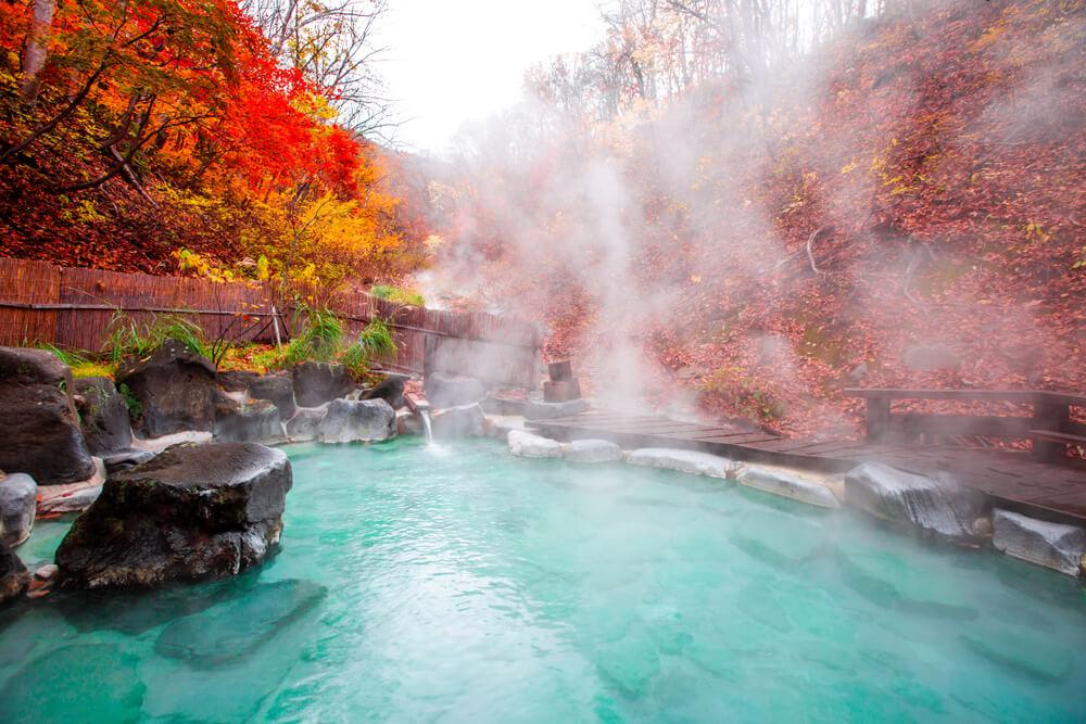 Onsen, Japan, Japan travel, autumn
