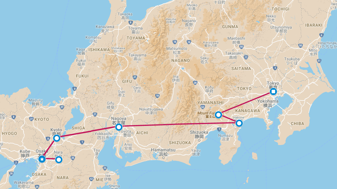 Tomato Travel Highlights Of Japan - Japan map gifu